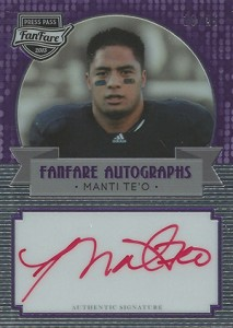 2013 Press Pass FanFare Manti Teo Purple