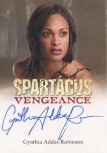 2013 Rittenhouse Spartacus Vengeance Autographs Cynthia Addai-Robinson