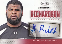 2013 Sage Hit Autographs Sheldon Richardson