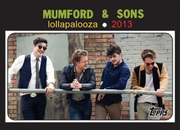 Mumford and Sons Rookie Card? Topps and Lollapalooza Partner for Trading Cards 1