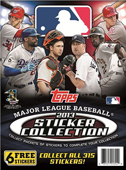 2013 Topps MLB Sticker Collection Album