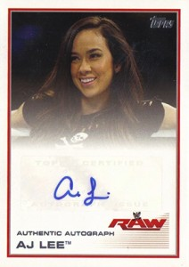 2013 Topps WWE Autographs AJ Lee