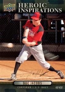 Iraq War Veteran, Purple Heart Recipient Doc Jacobs to Appear on Upper Deck Baseball Card 1