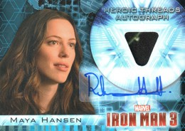 2013 Upper Deck Iron Man 3 Heroic Threads Autograph HTA-2 Rebecca Hall