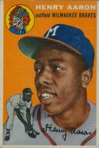 Vintage Topps Hank Aaron Baseball Cards Showcase 1