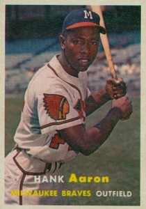 Vintage Topps Hank Aaron Baseball Cards Showcase 4