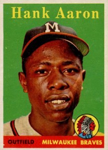 Vintage Topps Hank Aaron Baseball Cards Showcase 5