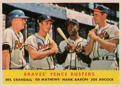 Vintage Topps Hank Aaron Baseball Cards Showcase 6