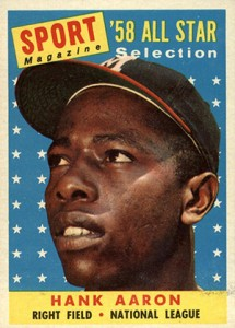 Vintage Topps Hank Aaron Baseball Cards Showcase 8
