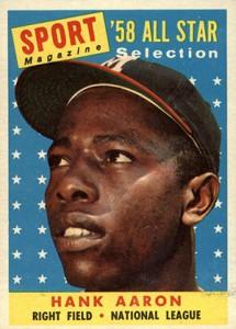 Vintage Topps Hank Aaron Baseball Cards Showcase 8