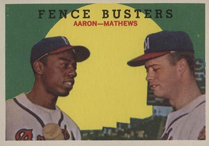 Vintage Topps Hank Aaron Baseball Cards Showcase 10