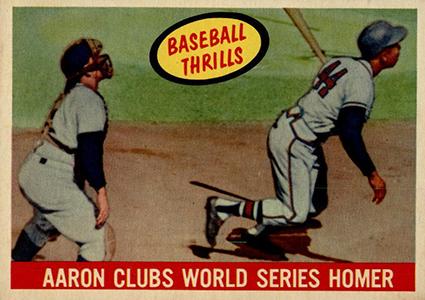 Vintage Topps Hank Aaron Baseball Cards Showcase 11