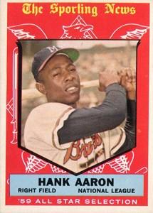 Vintage Topps Hank Aaron Baseball Cards Showcase 12