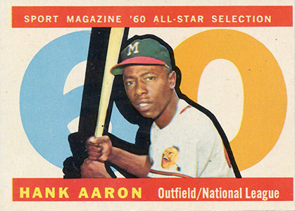 Vintage Topps Hank Aaron Baseball Cards Showcase 14