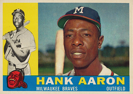 Vintage Topps Hank Aaron Baseball Cards Showcase 13