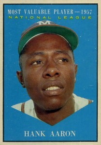Vintage Topps Hank Aaron Baseball Cards Showcase 17