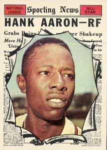 Vintage Topps Hank Aaron Baseball Cards Showcase 18