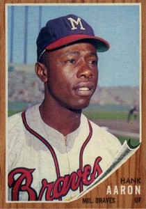 Vintage Topps Hank Aaron Baseball Cards Showcase 19