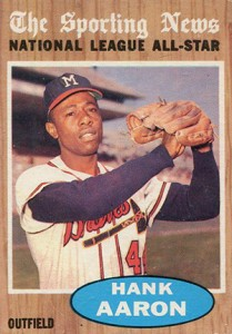 Vintage Topps Hank Aaron Baseball Cards Showcase 20