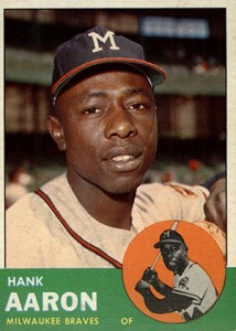 Vintage Topps Hank Aaron Baseball Cards Showcase 21