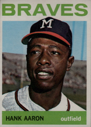 Vintage Topps Hank Aaron Baseball Cards Showcase Gallery and Checklist 25