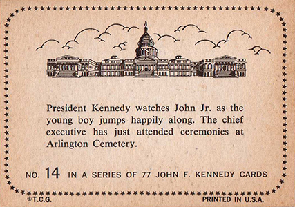 1964 Topps John F. Kennedy Trading Cards 2