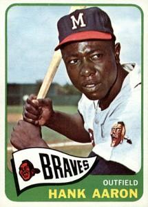 Vintage Topps Hank Aaron Baseball Cards Showcase 30