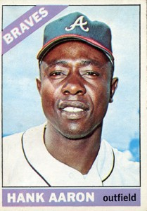 Vintage Topps Hank Aaron Baseball Cards Showcase 32