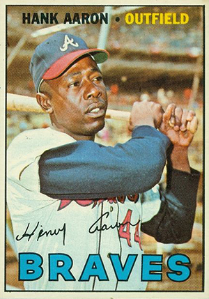 Vintage Topps Hank Aaron Baseball Cards Showcase 34