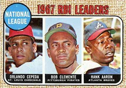 Vintage Topps Hank Aaron Baseball Cards Showcase 38