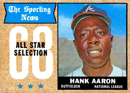 Vintage Topps Hank Aaron Baseball Cards Showcase 40