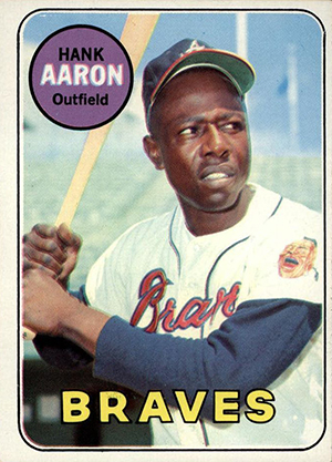 Vintage Topps Hank Aaron Baseball Cards Showcase 41