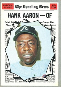 Vintage Topps Hank Aaron Baseball Cards Showcase 44