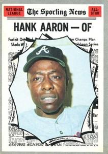 Vintage Topps Hank Aaron Baseball Cards Showcase 44
