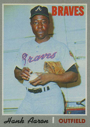 Vintage Topps Hank Aaron Baseball Cards Showcase 42