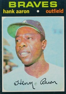 Vintage Topps Hank Aaron Baseball Cards Showcase 45