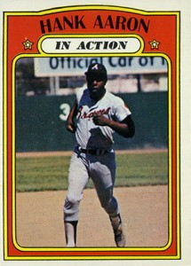 Vintage Topps Hank Aaron Baseball Cards Showcase 49