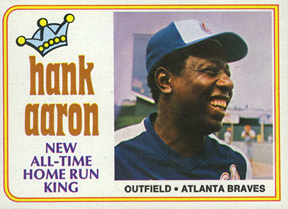 Vintage Topps Hank Aaron Baseball Cards Showcase 53