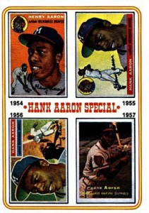 Vintage Topps Hank Aaron Baseball Cards Showcase 54