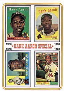 Vintage Topps Hank Aaron Baseball Cards Showcase 55