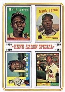 Vintage Topps Hank Aaron Baseball Cards Showcase 55