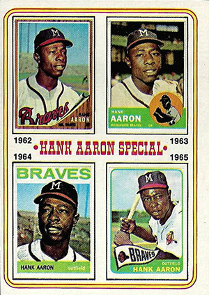 Vintage Topps Hank Aaron Baseball Cards Showcase 56