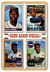 Vintage Topps Hank Aaron Baseball Cards Showcase 57