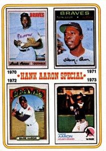 Vintage Topps Hank Aaron Baseball Cards Showcase 58