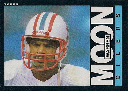 1985 Topps Football Warren Moon RC
