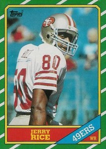 1986 Topps Jerry Rice RC