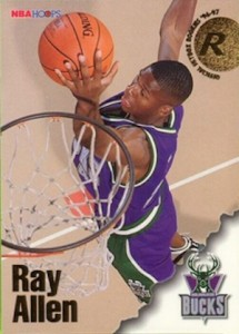 Ray Allen Rookie Cards and Memorabilia Guide 24