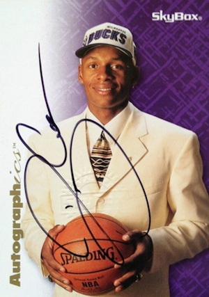 Ray Allen Rookie Cards and Memorabilia Guide 2