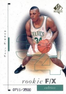 Paul Pierce Rookie Cards and Autograph Memorabilia Guide 2
