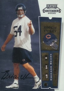 2000 Playoff Contenders Brian Urlacher RC #103 Autograph